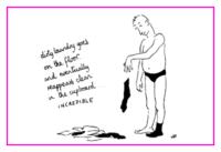 Jacky Fleming Postcard - dirty laundry