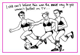 Jacky Fleming Postcard - football