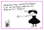 Jacky Fleming Postcard - princess and frogspawn
