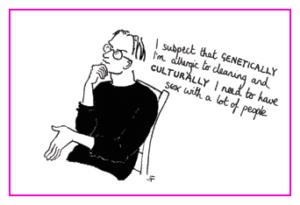 Jacky Fleming Postcard - genetically