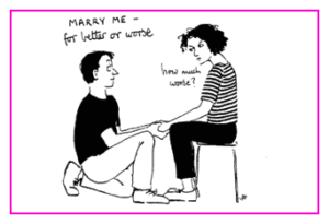 Jacky Fleming Postcard - marry me