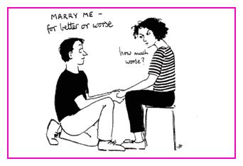 Jacky Fleming Postcard - marry me