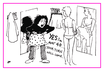 Jacky Fleming Postcard - over 40